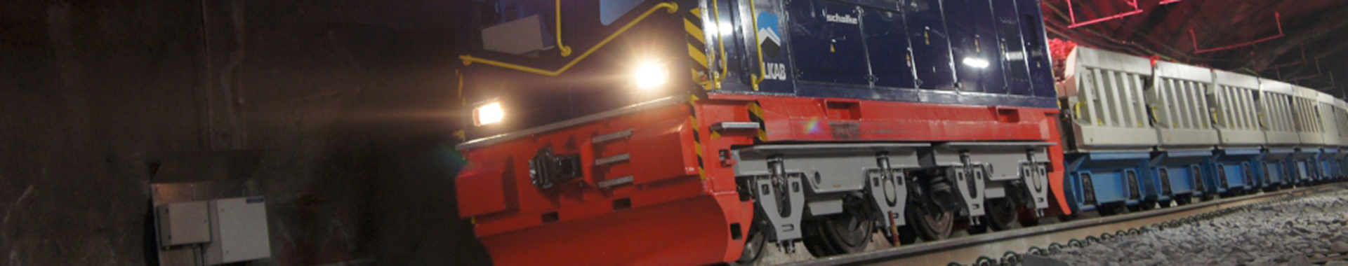 In the Kiruna Mine in Sweden the 108-tonne production locomotive operates in depths of 1,365m below ground level.